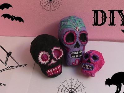 DIY papírová lebka. Halloween 2015