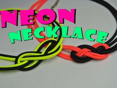 Neonový náhrdelník. Neon summer necklace. DiY