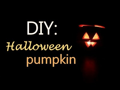 Návod na halloweenskou dýni | DIY: How to crave Halloween pumpkin