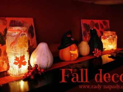 Podzimní svícny (Halloween decor, Fall decoration - candle jar) DiY