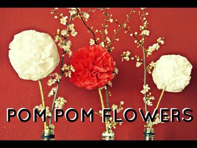 Pompom květiny aneb jarní - letní dekorace. DIY