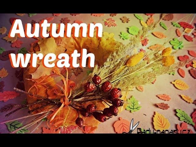 Podzimní věnec z listí (Autumn wreath) DiY