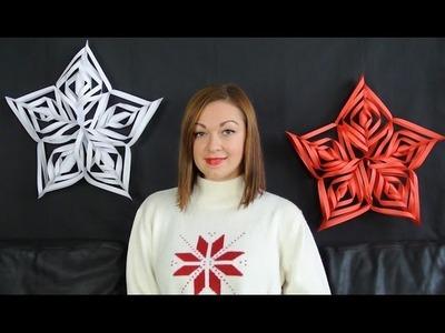 Vánoční 3D hvězda. vánoční dekorace. diy christmas decorations
