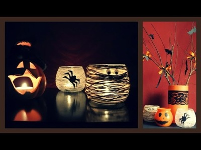 Halloweenská dekorace. Halloween decoration - pumpkin. DiY