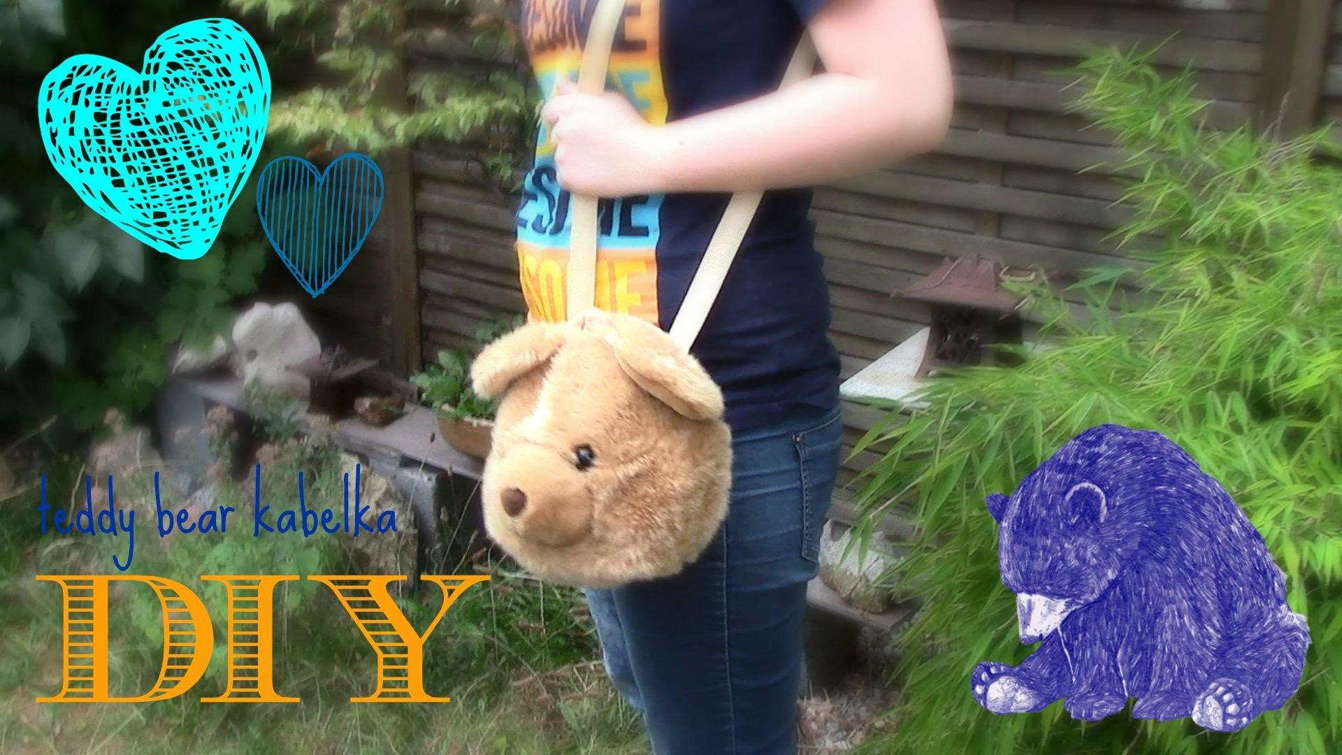 DIY teddy bear kabelka