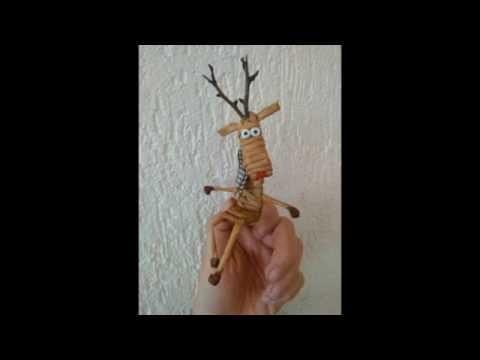 DIY - pletení z papíru vánoční sob. christmas paper raindeer