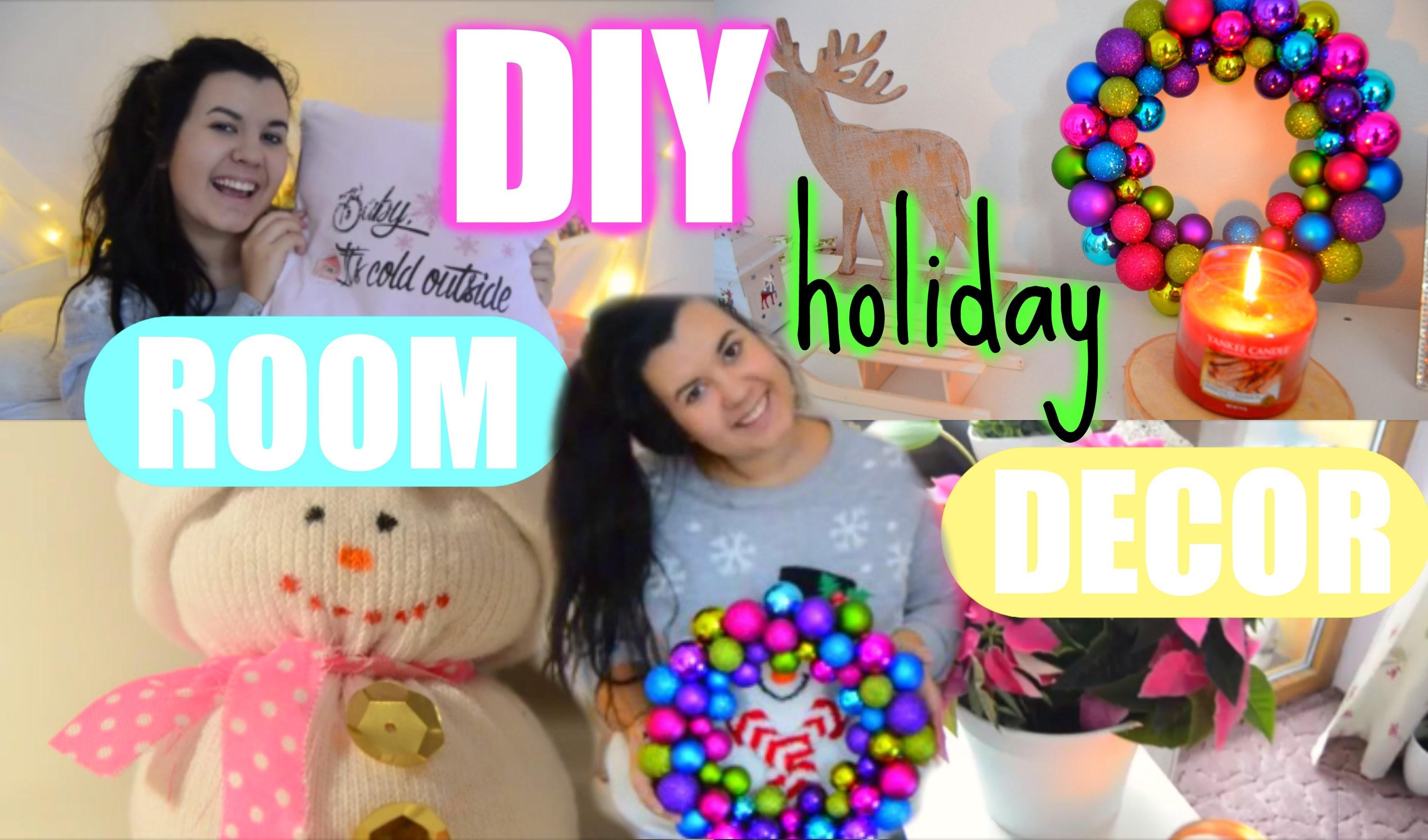 ♡ DIY Vánoční dekorace + Jak udělat svůj pokoj útulný  ♡ Christmas 2015 ♡. DIY Holiday Room Decor ♡