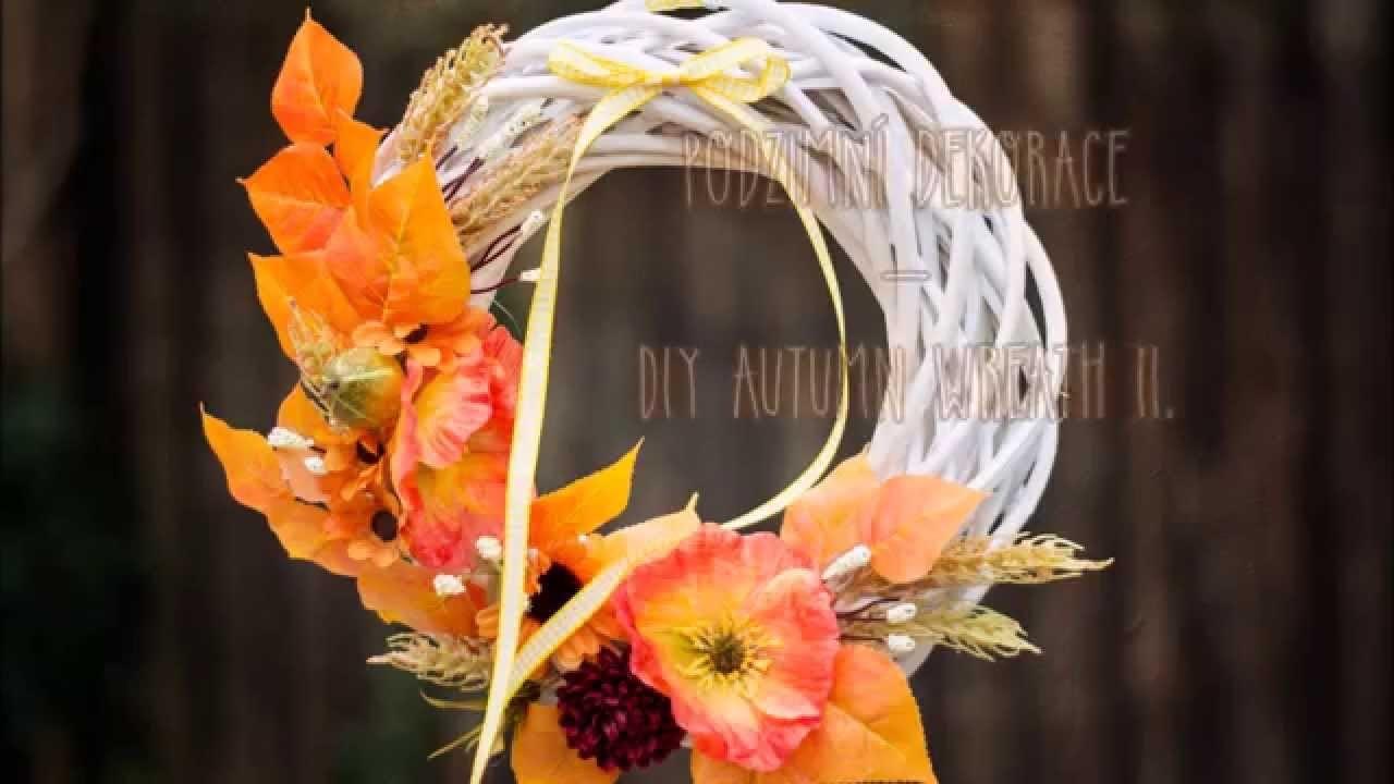 Podzimní dekorace - podzimní věnec II, diy autumn wreath