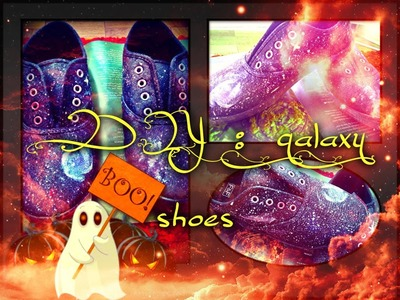 DIY: galaxy shoes