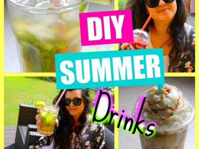 ♡DIY SUMMER DRINKS  (Starbucks frappuccino, Mojito, Raspberry Juice)♡