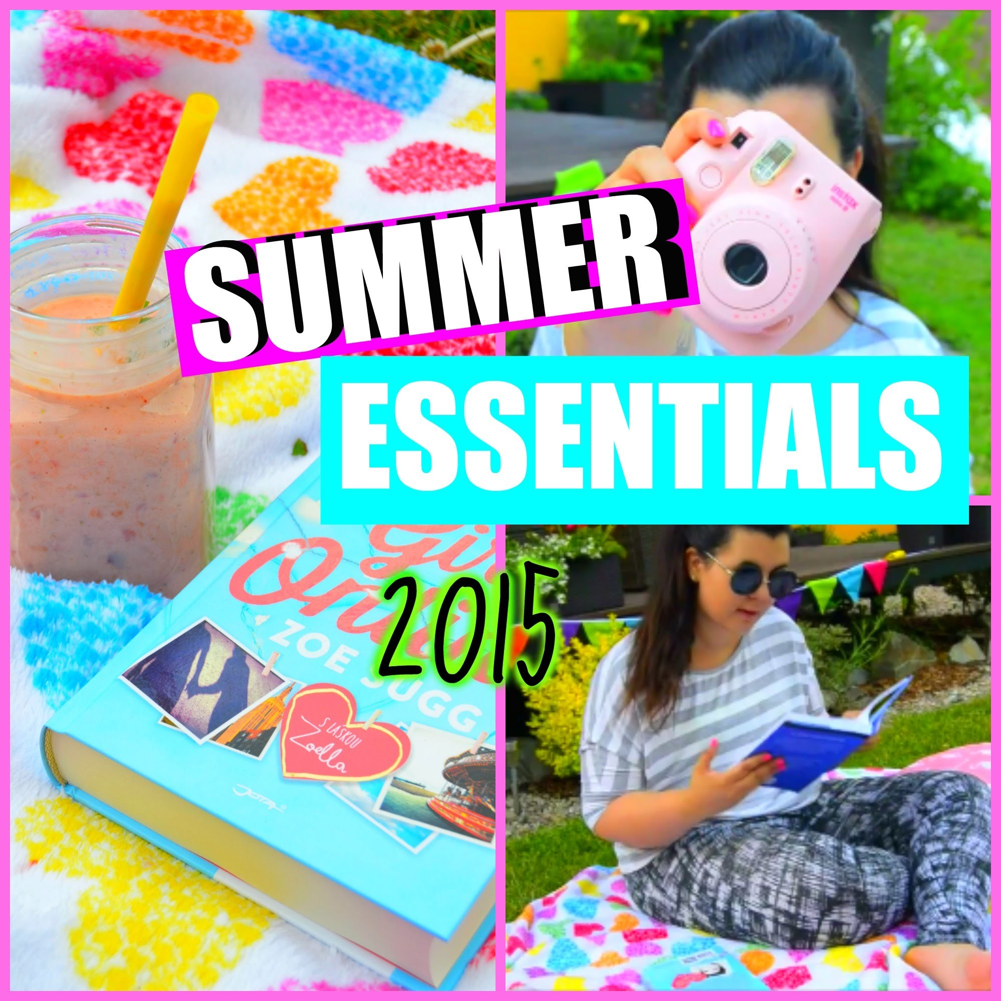 ♡ SUMMER ESSENTIALS - DIY, SNACK, PICNIC - Letní  inspirace ♡