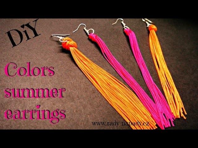 Barevné letní náušnice (colors summer earrings) DiY