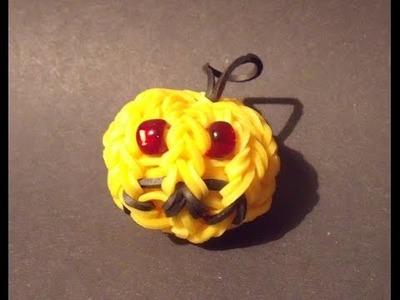 Rainbow loom bands - 3D halloween dýně
