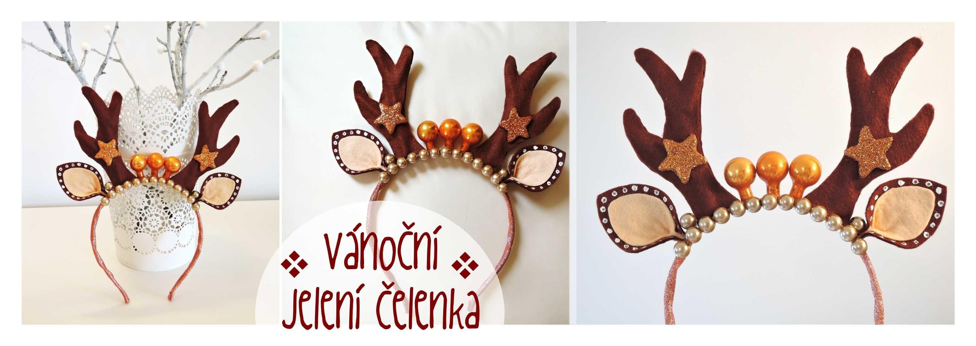Vánoční jelení čelenka. Diy Deer christmas headband