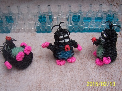 Video návod na Krtka 3D. Rainbow Loom Charms: Mole 3D.