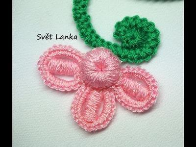 Motivky pro irskou krajku. Malá květinka.