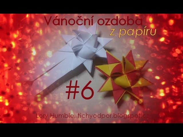 Vánoční ozdoba z papíru #6 (hvězda   DIY: origami star)