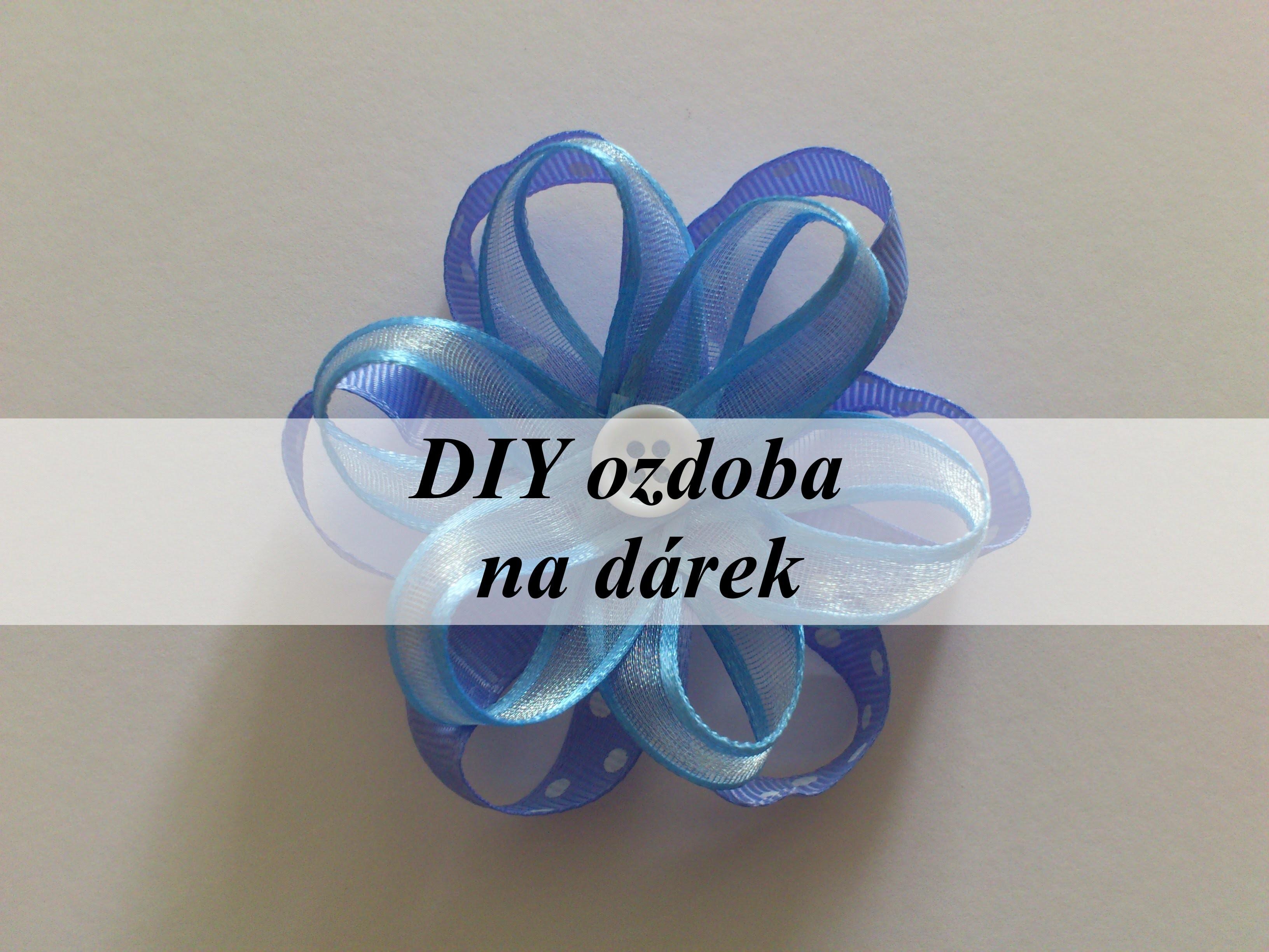 DIY ozdoba na dárek.DIY adornment on gift