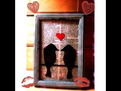 Valentýnská dekorace-DIY (Valentine´s day-Lovebird)
