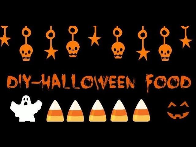 DIY Halloween food-Červi,Duchové