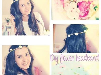 DIY Květinová čelenka ( Flower headband)