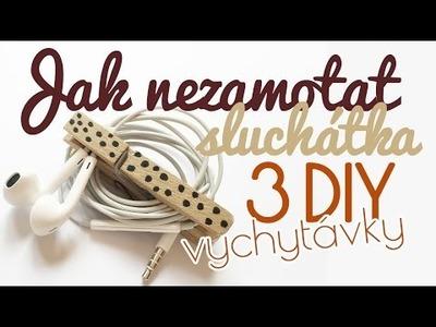 3 DIY vychytávky, jak nezamotat sluchátka | #laterezatelier