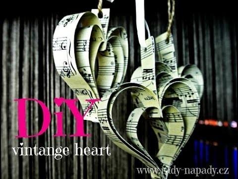 Vintage srdíčka (diy vintage heart)