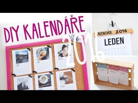 3 DIY kalendáře 2016 | #laterezatelier