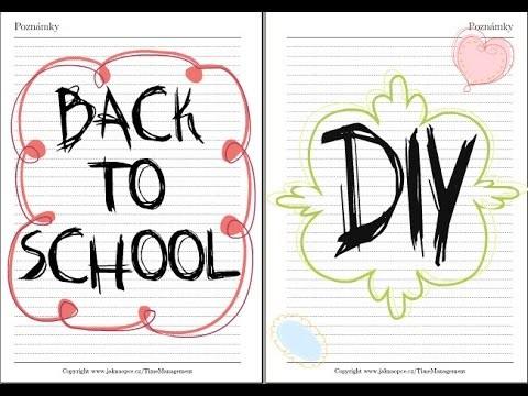 Back to school: DIY 2014. Zpátky do školy 2014