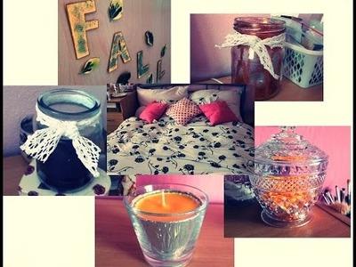 Podzimní dekorace pokoje + DIY.