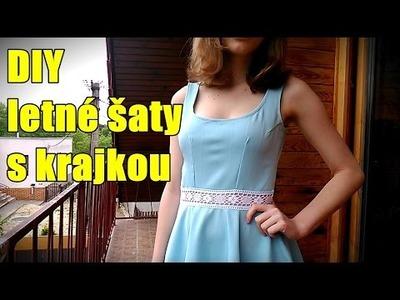 DIY letné šaty s krajkou