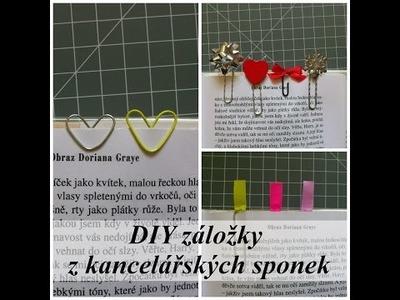DIY záložky z kancelářských sponek.DIY bookmarks from paperclips
