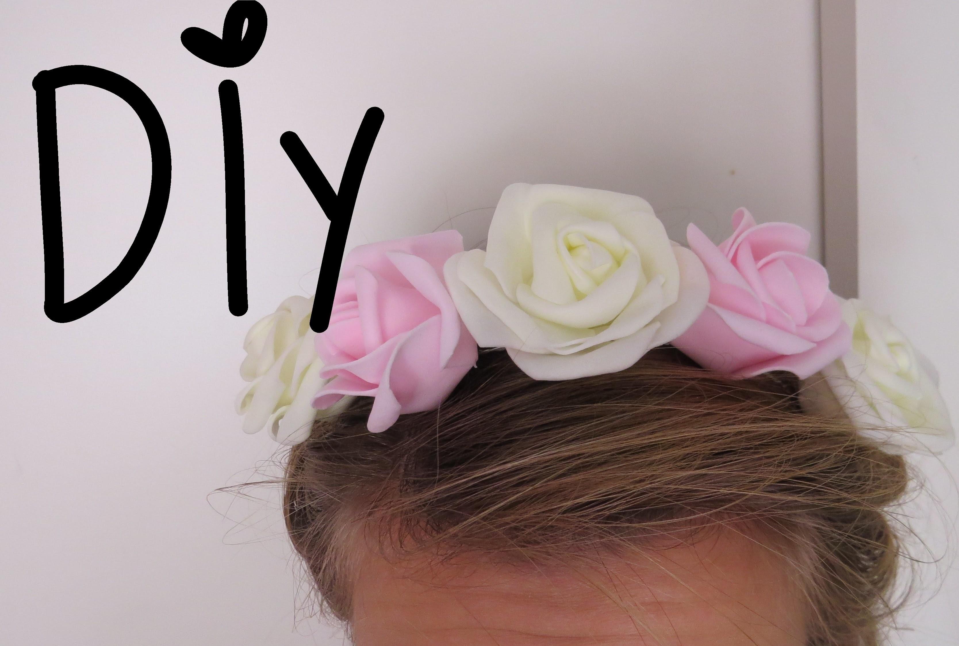 DIY | Květinová čelenka #2