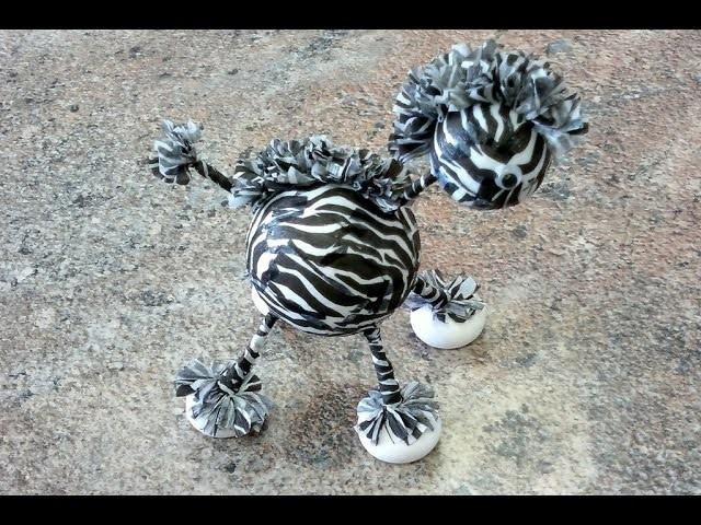 Jak na to: 17# Zebra z polystyrenových koulí (DIY)