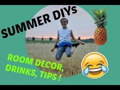 SUMMER DIY & TIPS ☼ ! (Dekorace, Drinky a Tipy)