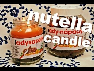 Svíčka jako Nutella. DiY nutella candle. homemade candle