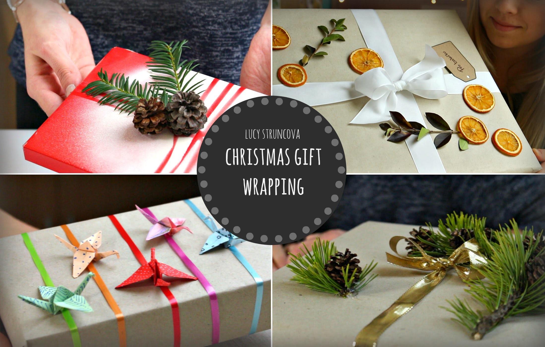 Balení vánočních dárků   Christmas gift wrapping   Lucy&Theodora