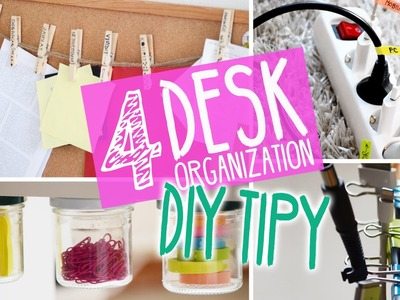 4 DIY tipy DESK ORGANIZATION | w.Roman12