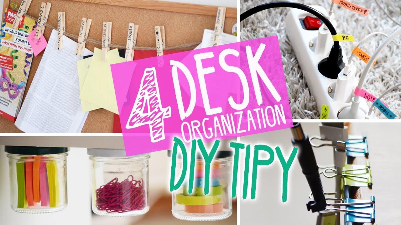 4 DIY tipy DESK ORGANIZATION | w.Roman12