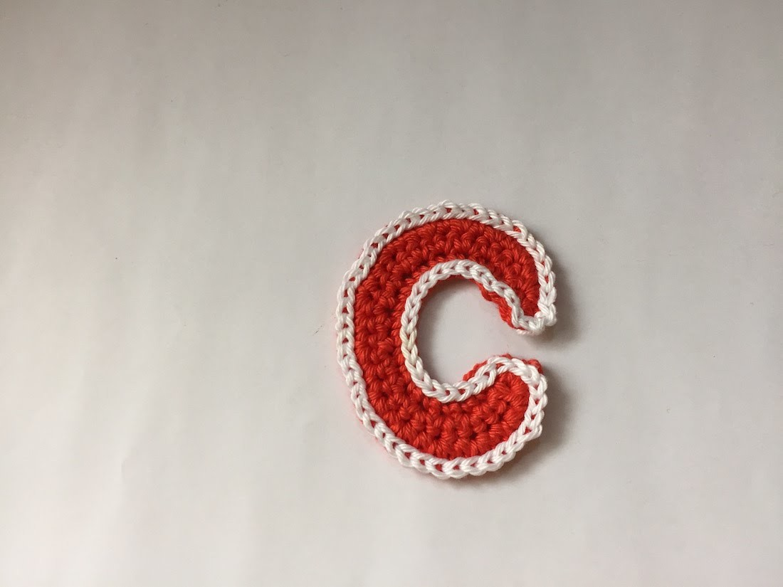Tuto lettre C au crochet