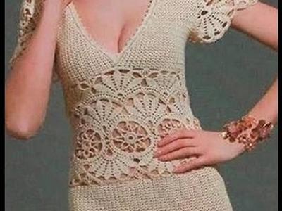 Elegantní šaty háčkem. 1 díl. CJ + RJ