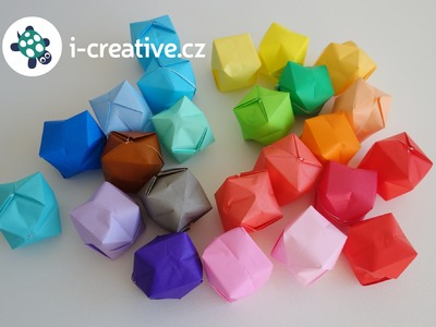 Origami nafukovací balónky - návod