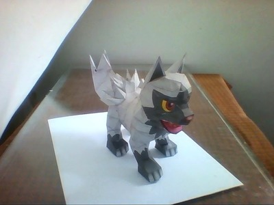 Pokemon papercraft (poochyena)