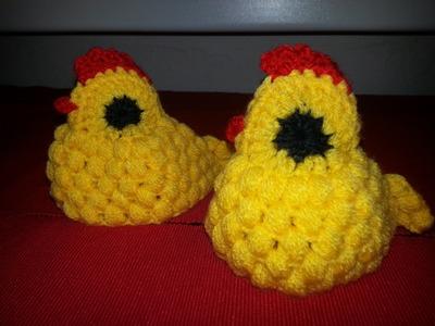 Háčkované velikonoce - slepička - how to crochet easter chicken