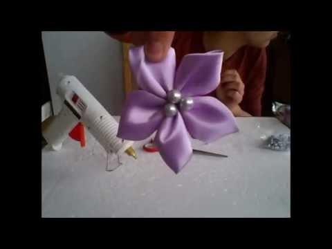 Handmade satin bouquet