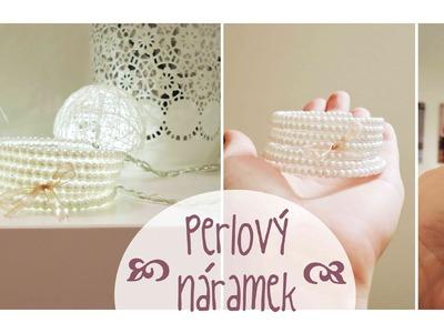 Perlový náramek. diy Perl wrap bracelet