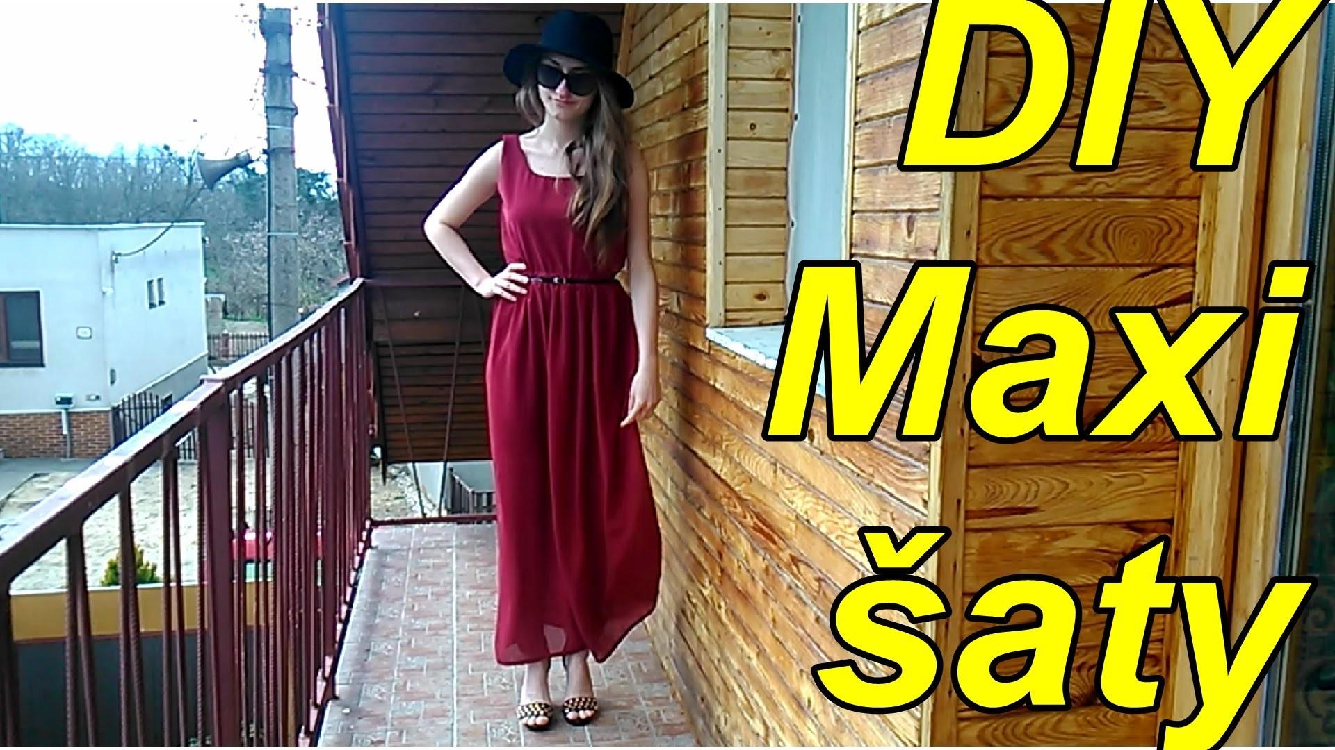 DIY maxi šaty