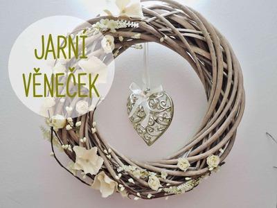 Jarní věneček - věnec. diy spring wreath