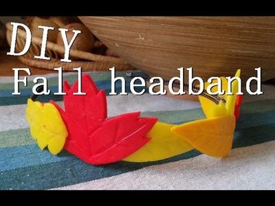 """Podzimní DIY: Čelenka """"z listí"""" ( Headband with leaves )"""