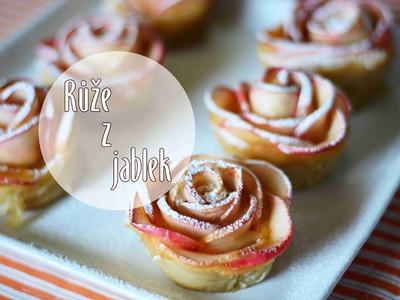 Jablečné růže, růže z jablek. Diy apple roses. Videorecept